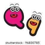 illustration of funny cartoon... | Shutterstock .eps vector #96830785