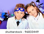 two children making science... | Shutterstock . vector #96833449
