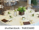 table set for a luxury event... | Shutterstock . vector #96833680