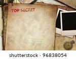 vintage composition  top secret ... | Shutterstock . vector #96838054