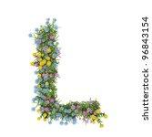 letter l  flower alphabet... | Shutterstock . vector #96843154