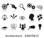 Stock vector strategy concepts icons set 96845815