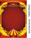 yellow circus with big top. a... | Shutterstock .eps vector #96845863