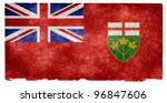 Grungy Flag Of Ontario On...