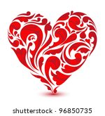 abstract floral heart. love... | Shutterstock .eps vector #96850735