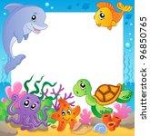 Frame With Underwater Animals ...