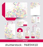 funky stationery set design in... | Shutterstock .eps vector #96854410