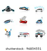 car icons set. different types... | Shutterstock .eps vector #96854551