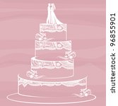 traditional wedding cake on a... | Shutterstock . vector #96855901