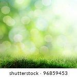 the beautiful backdrop of grass ... | Shutterstock . vector #96859453