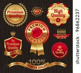 set of golden quality labels... | Shutterstock .eps vector #96862237