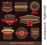 set of leather   gold premium... | Shutterstock .eps vector #96862243