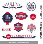 set of premium   quality labels ... | Shutterstock .eps vector #96862258