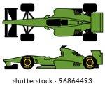 green open wheel car | Shutterstock .eps vector #96864493