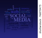 social media and connected... | Shutterstock . vector #96870475