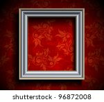 picture frame on grunge wall ... | Shutterstock .eps vector #96872008