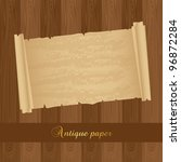 old paper over wooden textured  ... | Shutterstock .eps vector #96872284