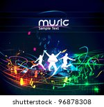 abstract music dance background ... | Shutterstock .eps vector #96878308