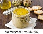 Artichoke Pesto In Glass Jar.