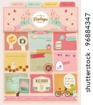 vintage design elements  16  | Shutterstock .eps vector #96884347