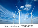 green renewable energy concept  ... | Shutterstock . vector #96884395