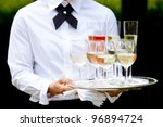 beverages being served by a... | Shutterstock . vector #96894724