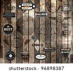 vector set of calligraphic... | Shutterstock .eps vector #96898387