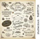 vector set  calligraphic design ... | Shutterstock .eps vector #96899734
