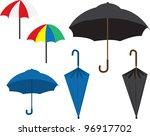 various colored umbrellas. ...   Shutterstock .eps vector #96917702