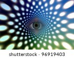 Eye Peers From Tunnel