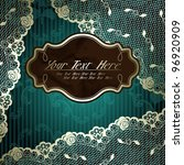 lacy design with brown label on ... | Shutterstock .eps vector #96920909