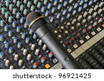 part of an audio sound mixer... | Shutterstock . vector #96921425