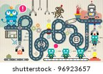 robot factory infographic...   Shutterstock .eps vector #96923657