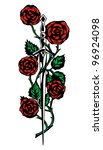 rose and the sword  knightly... | Shutterstock . vector #96924098