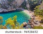 fakistra beach  pelio  thessaly ... | Shutterstock . vector #96928652