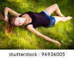 sexy woman posing   Shutterstock . vector #96936005