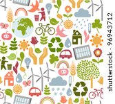 seamless eco pattern | Shutterstock .eps vector #96943712