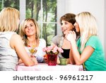 group of a young women in the... | Shutterstock . vector #96961217