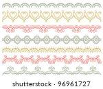 seven decorative lines   vector | Shutterstock .eps vector #96961727