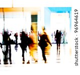 City People Crowd Abstract Background - Fine Art prints