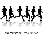 competition on run | Shutterstock . vector #96970892