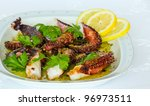 grilled octopus with olive oil  ... | Shutterstock . vector #96973511