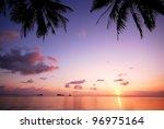 sea beach sunset background... | Shutterstock . vector #96975164