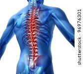 human body backache and back... | Shutterstock . vector #96976301