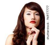 portrait of beauty face of... | Shutterstock . vector #96977777