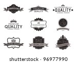 vintage style premium quality... | Shutterstock .eps vector #96977990