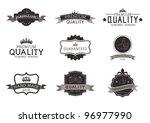 vintage style premium quality... | Shutterstock .eps vector #96977990