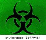 bio hazard symbol on the green... | Shutterstock .eps vector #96979454