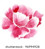 handmade watercolour tender red ... | Shutterstock . vector #96994928