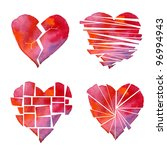 Handmade Watercolour Red Heart...